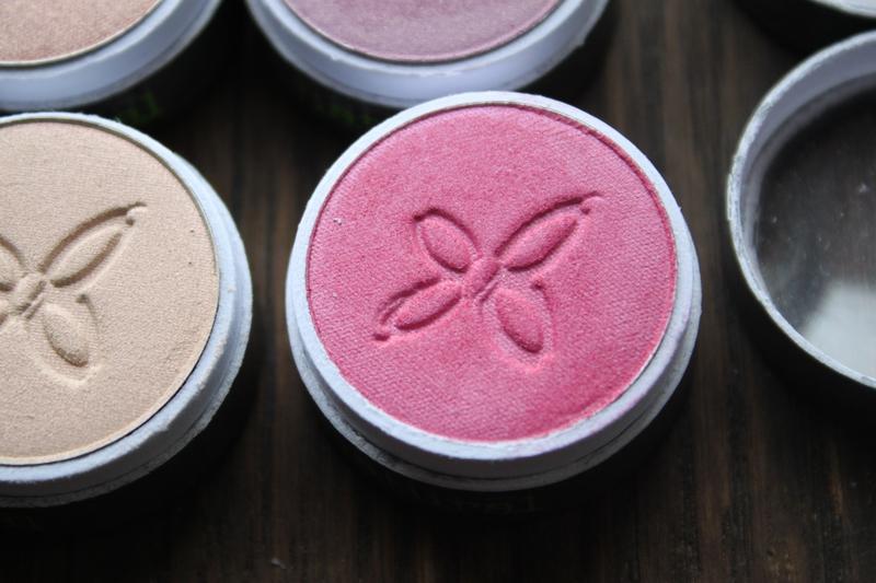 boho green revolution maquillage naturel bio fards à paupières édition limitée 257 rose pétillante