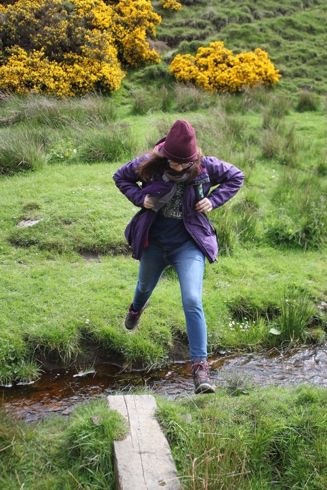 Photo de moi durant notre marche