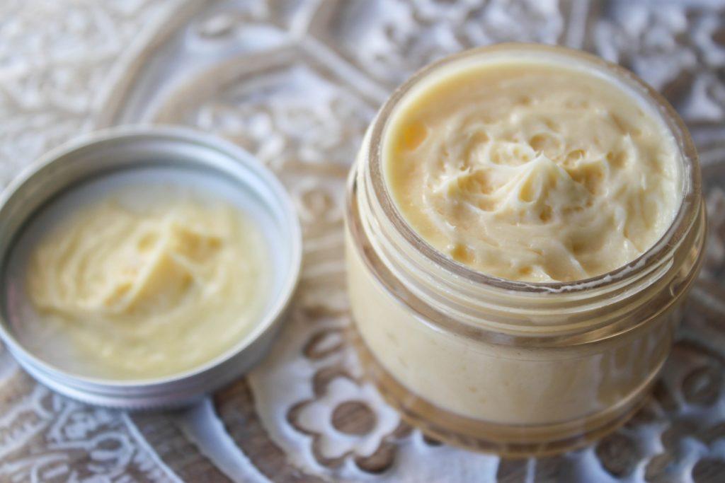 La crème finie en pot