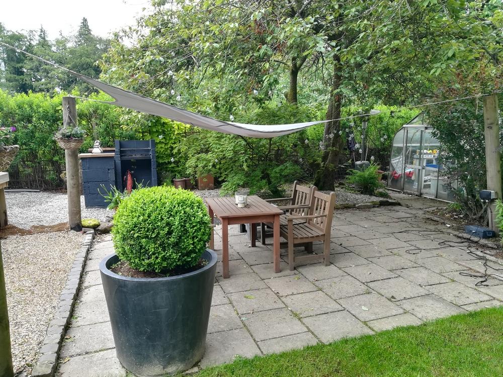 La terrasse de notre chambre